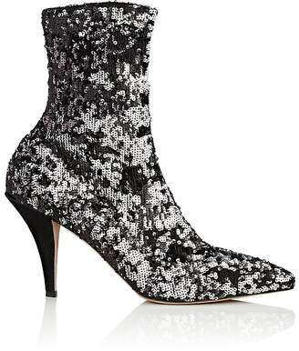 Valentino Women's Sequined Sock Ankle Boots
