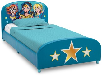 Justice Delta Children DC Super Hero Girls Upholstered Twin Bed