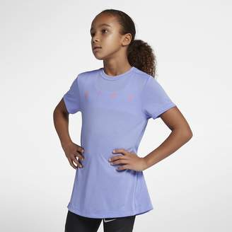 Nike Dri-FIT Big Kids' (Girls') Short Sleeve Training Top