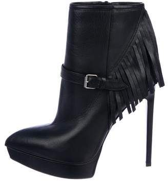 Saint Laurent Fringe Ankle Boots