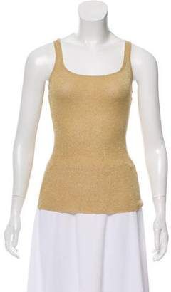 Ralph Lauren Sleeveless Metallic Top
