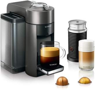 De'Longhi Delonghi Nespresso Evoluo Deluxe by DeLonghi with Aeroccino3 Frother, Titan