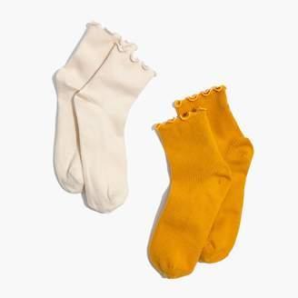 Madewell Two-Pack Ruffled Ankle Socks