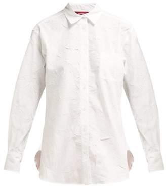 Sies Marjan - Sander Cotton Blend Crinkled Poplin Shirt - Womens - White