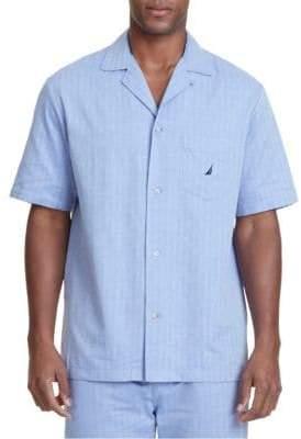1b9cbcd83a Nautica Captains Herringbone Woven Pajama Top