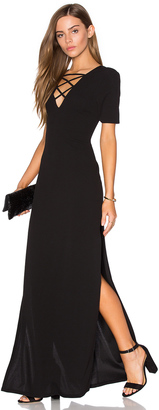Lucca Couture High Slits Lace-Up Maxi Dress $92 thestylecure.com