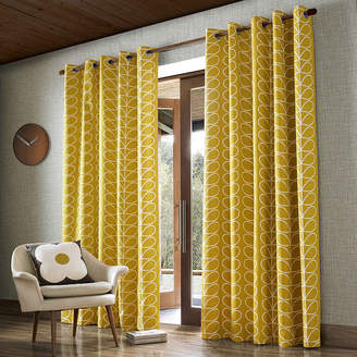 Orla Kiely Linear Stem Eyelet Curtains - Dandelion - 165x137cm