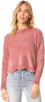 ENGLISH FACTORY Scallop Hem Knit Sweater