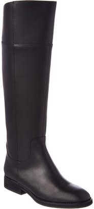 Jil Sander Navy Tall Leather Boot
