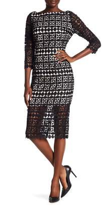 Alexia Admor Half Sleeve Boatneck Lace Dress