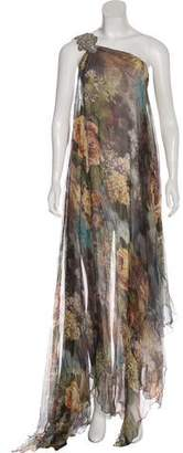 Philipp Plein Silk Maxi Dress