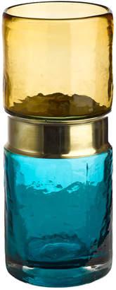 Pols Potten Belt Vase - Aqua/Brass