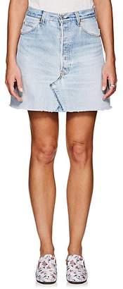 RE/DONE Women's High Rise Levi's® Miniskirt - Blue