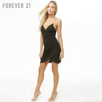 Forever 21 (フォーエバー 21) - Forever 21 カシュクールネックミニワンピース