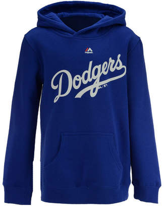 Majestic Los Angeles Dodgers Wordmark Hoodie, Big Boys (8-20)