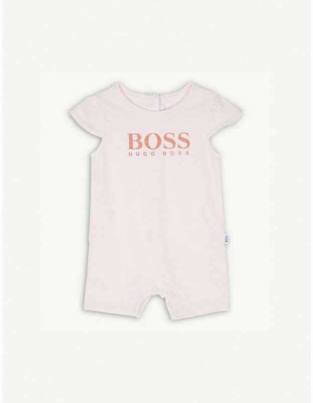 Logo print cotton bodysuit 1-18 months