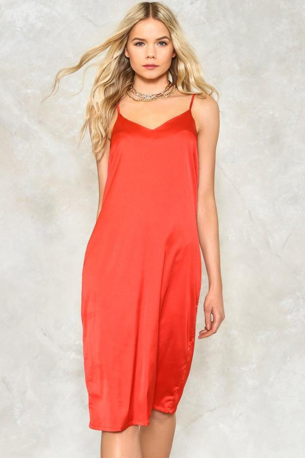 nastygal Love or Just a Game Satin Dress