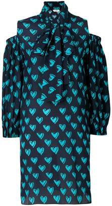 Fendi heart print shirt dress