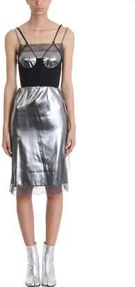 Maison Margiela Silver Shine Silk Georgette Dress