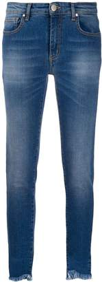 FEDERICA TOSI frayed cropped skinny jeans