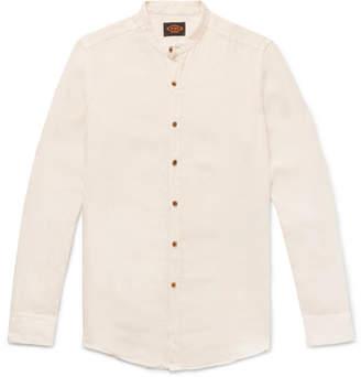 Tod's Grandad-Collar Slub Linen Shirt