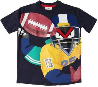 Fendi Oversized Football Cotton Jersey T-Shirt