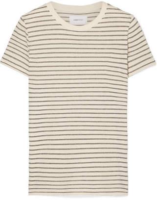 Current/Elliott The Retro Striped Metallic Cotton-blend Jersey T-shirt