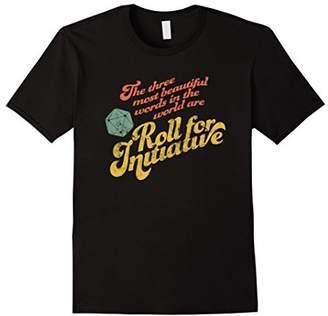 "Funny RPG Game ""Roll for Initiative"" d20 Retro Tshirt"