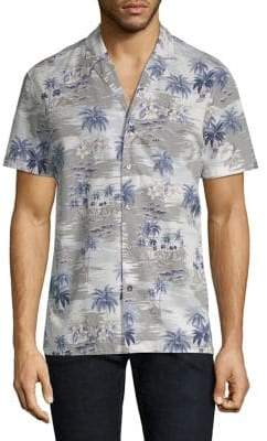 Strellson Palm Tree Print Button-Down Shirt
