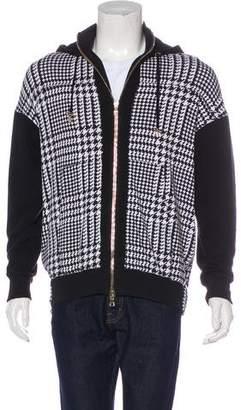 Balmain Herringbone Hooded Sweatshirt