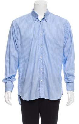 Saint Laurent Striped French Cuff Shirt