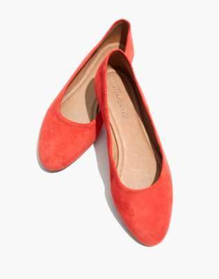 Madewell The Reid Ballet Flat in Suede