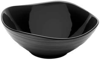 Mikasa Dinnerware, Swirl Square Black Vegetable Bowl