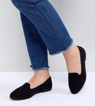 New Look Wide Fit Slip On Flat Shoe