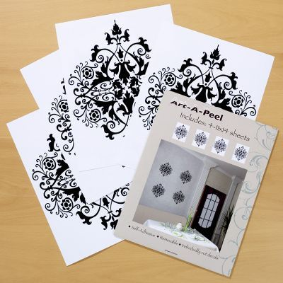 Art-A-Peel Black Lacy Medallion Wall Decals