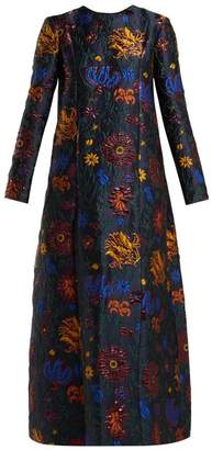 Dragon Optical La Doublej Flower Maxi Dress - Womens - Blue Multi