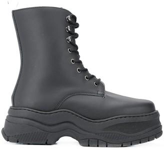 Chiara Ferragni army ankle boots
