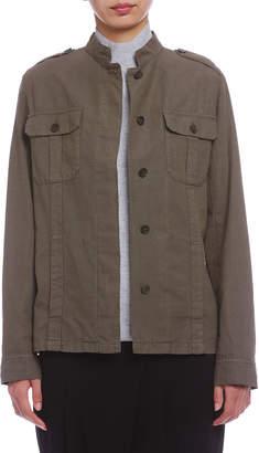 Comptoir des Cotonniers ミリタリー シャツジャケット グリーン 36