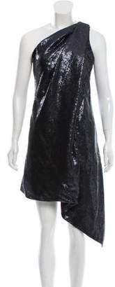 Kaufman Franco KAUFMANFRANCO Sequin-Embellished One-Shoulder Dress w/ Tags