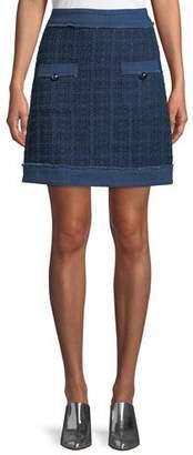 Kate Spade Denim Tweed Mini Skirt
