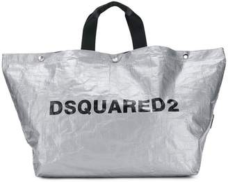 DSQUARED2 logo print tote bag