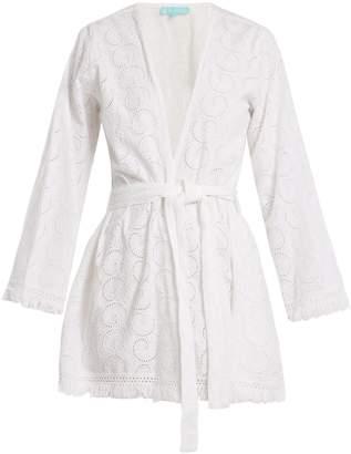 Melissa Odabash Pippa embroidered cotton wrap dress