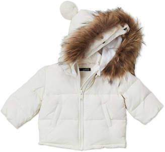 Baby Essentials Bomboogie (Newborn/Infant Girls) Real Fur Hooded Coat