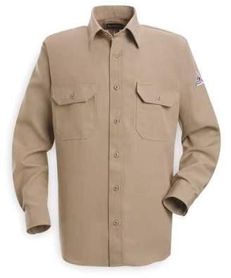 Bulwark Flame Resistant Collared Shirt, Tan, Nomex(R), L, SND2TN RG L