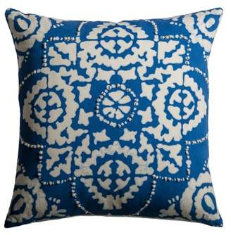 """Of A Kind Rizzy Home One Cotton Sheeting Navy Blue Pillow 18"""" X 18"""""""