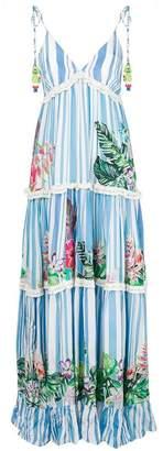 Rococo Sand tiered stripe maxi dress