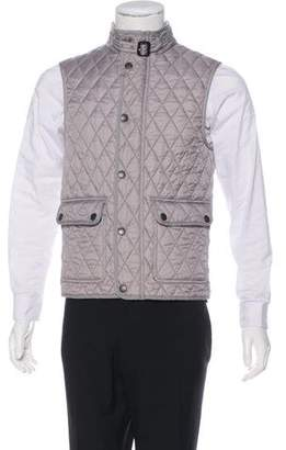 Burberry Quilted Nova-Check Lined Vest