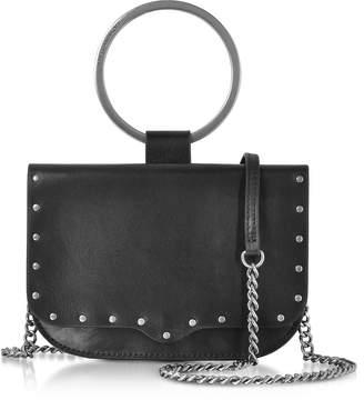 Rebecca Minkoff Black Leather Ring Crossbody Bag