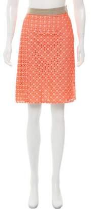 Derek Lam Eyelet Knee-Length Skirt