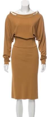 Dolce & Gabbana Belt-Accented Midi Dress